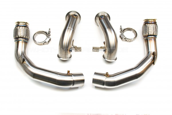 BMW M5 4,4L V8 Biturbo F90 S63M Downpipes